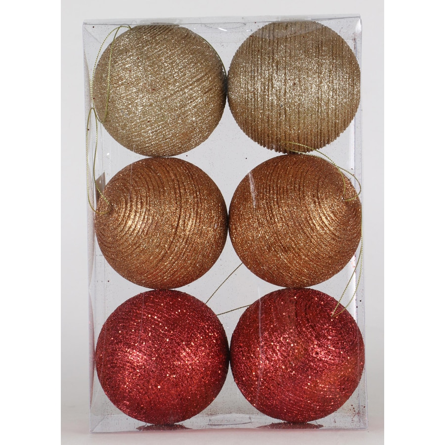 Holiday Living 6-Pack Assorted Color Christmas Bulb Ornament Set