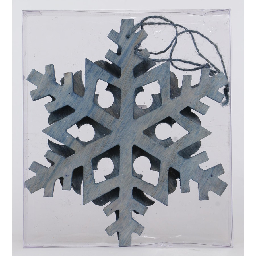 Holiday Living 2-Pack Blue Snowflake Ornament Set