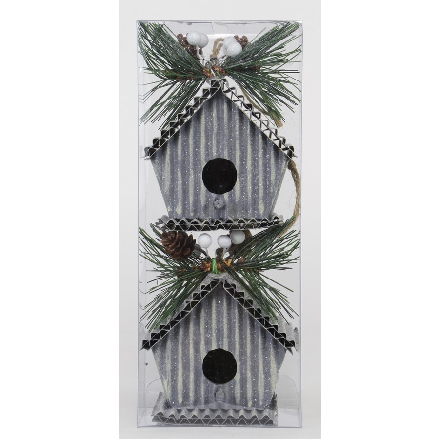 Holiday Living 2-Pack Mixed Color Birdhouse Ornament Set