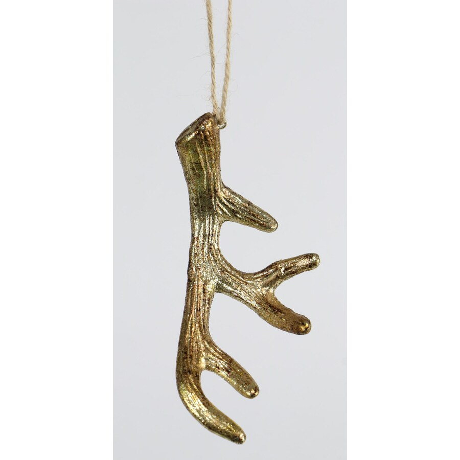Holiday Living Gold Deer Ornament