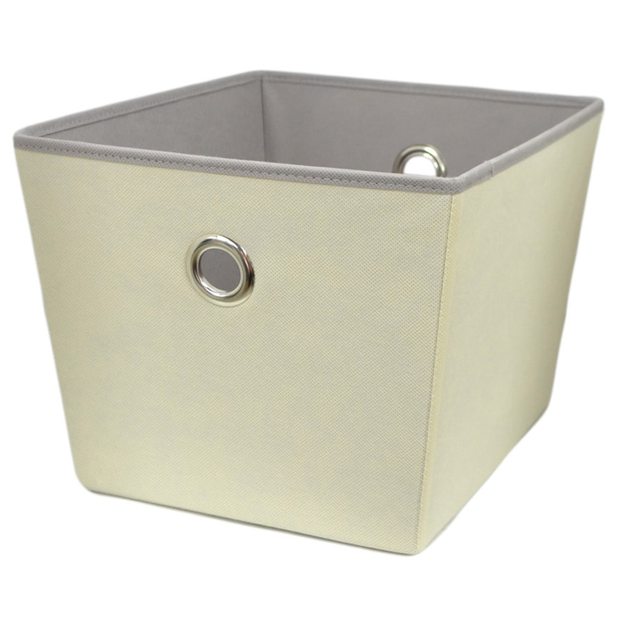 Style Selections 14-in W x 10-in H x 12-in D Cream Fabric Bins