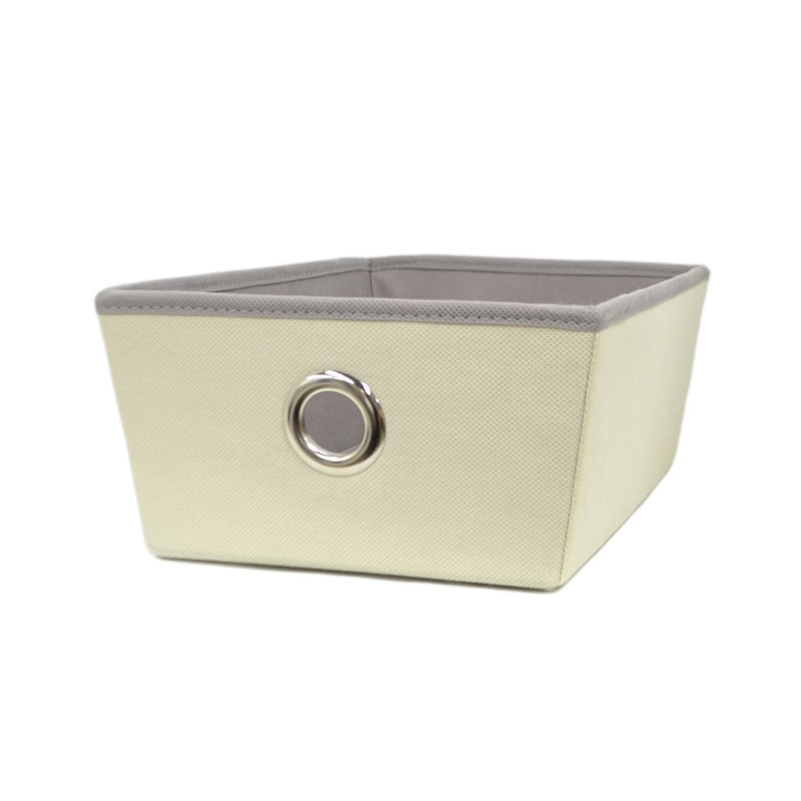 Style Selections 14.25-in W x 5-in H x 9.5-in D Cream Fabric Bins