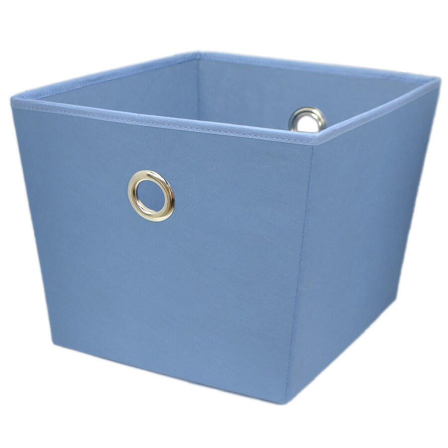 Style Selections 14-in W x 10-in H x 12-in D Blue Fabric Bin