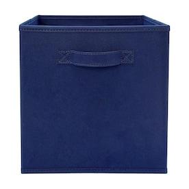 Style Selections Non Woven Fabric Bin 10.5-in W x 11-in H x 10.5-in D Navy Polypropylene Bin
