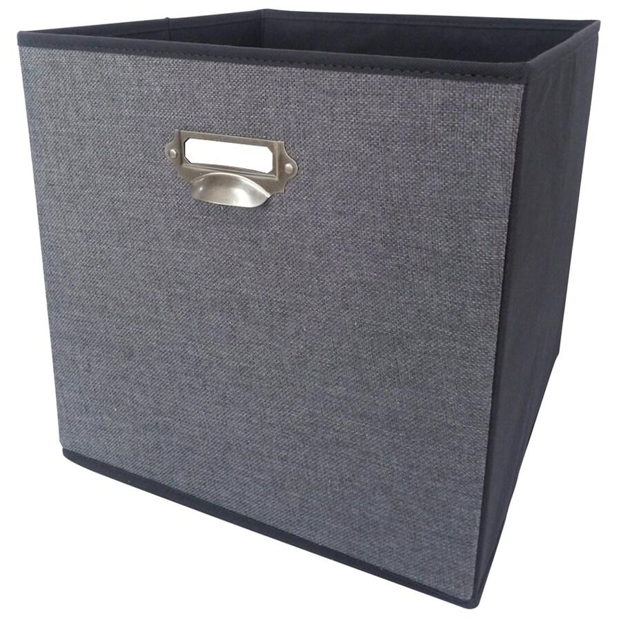 allen + roth 12.75-in W x 12.75-in H x 12.75-in D Gray Fabric Bin