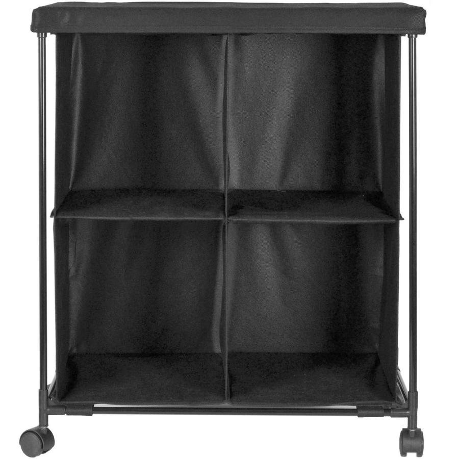 Style Selections 23.62-in W x 27.95-in H 4-Drawer Black Fabric Cart