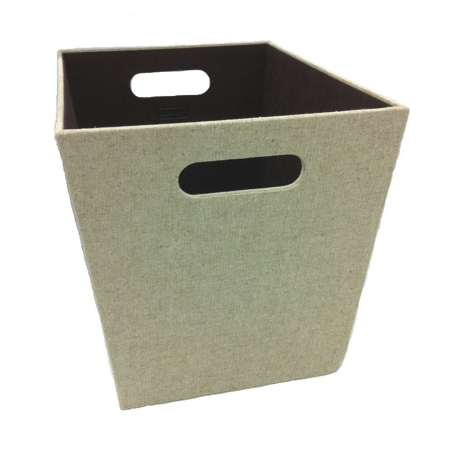 allen + roth 10.69-in W x 11-in H x 14.25-in D Beige Fabric Milk Crate