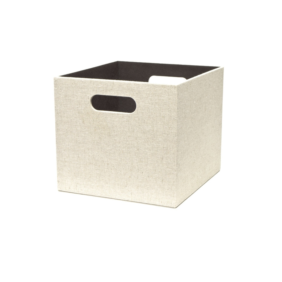 allen + roth Linen 10.69-in W x 9.69-in H x 11.69-in D Cream Fabric Bin