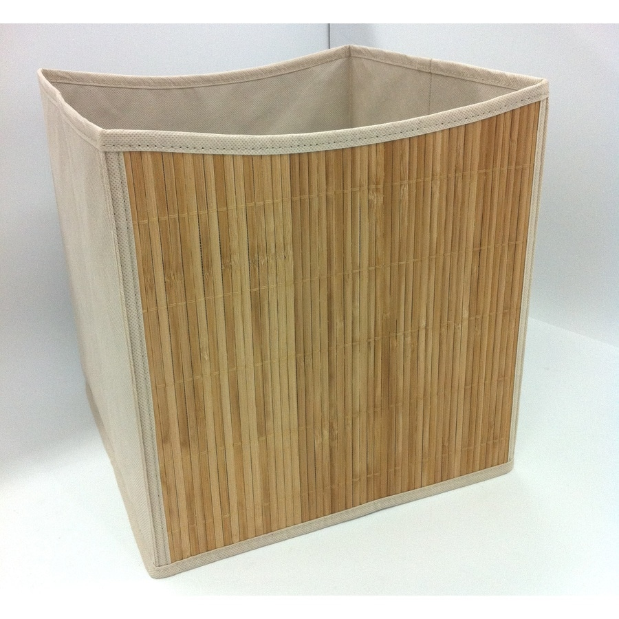 Style Selections 10.69-in W x 11-in H x 10.69-in D Bamboo Fabric Bin
