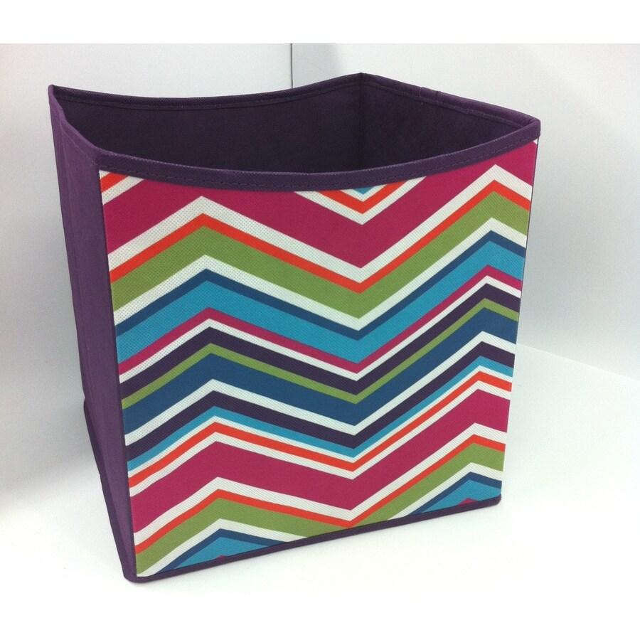 Style Selections 10.5-in W x 11-in H x 10.5-in D Chevron Print Fabric Bin