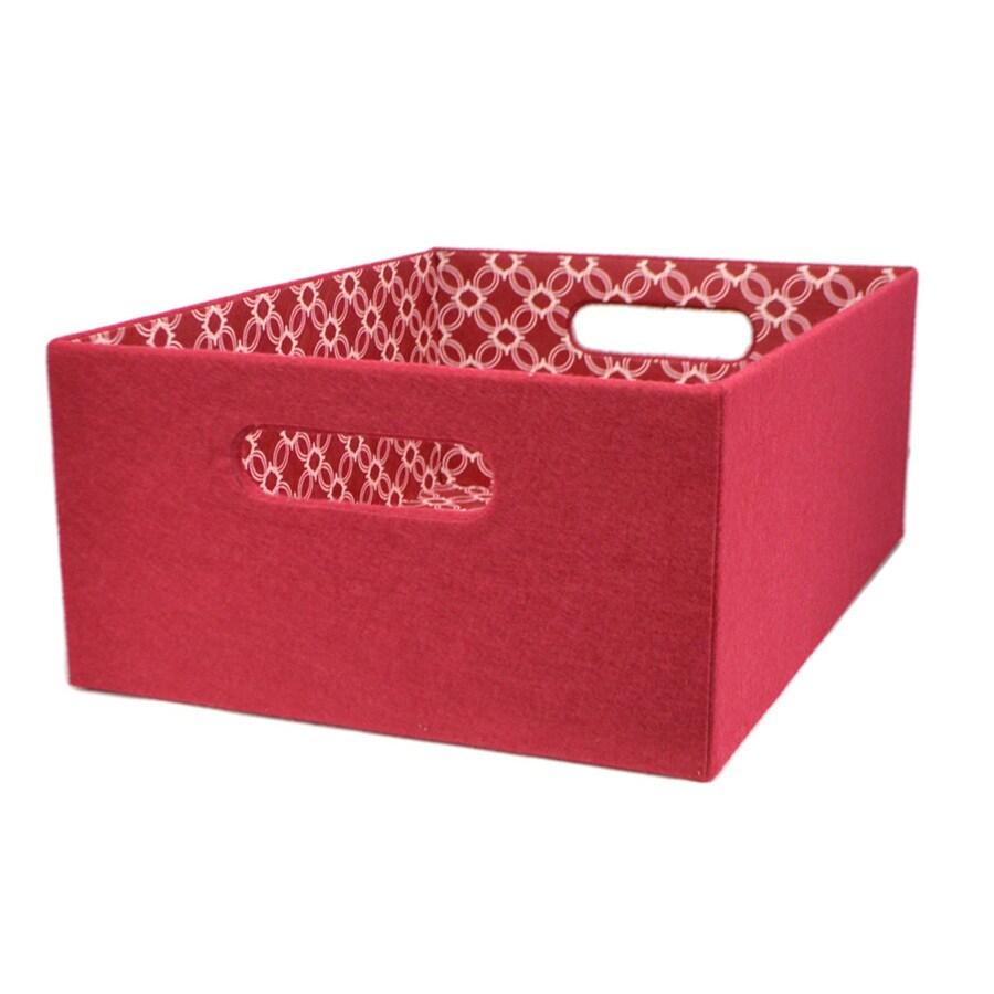 allen + roth 10.69-in W x 5.5-in H x 14.25-in D Red Fabric Bin