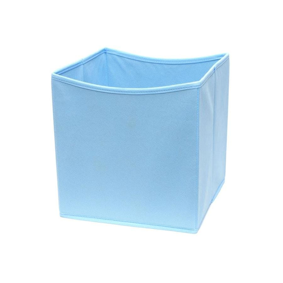 Uncategorized Fabric Bins shop 10 5 in w x 11 h d pastel blue fabric bin at blue