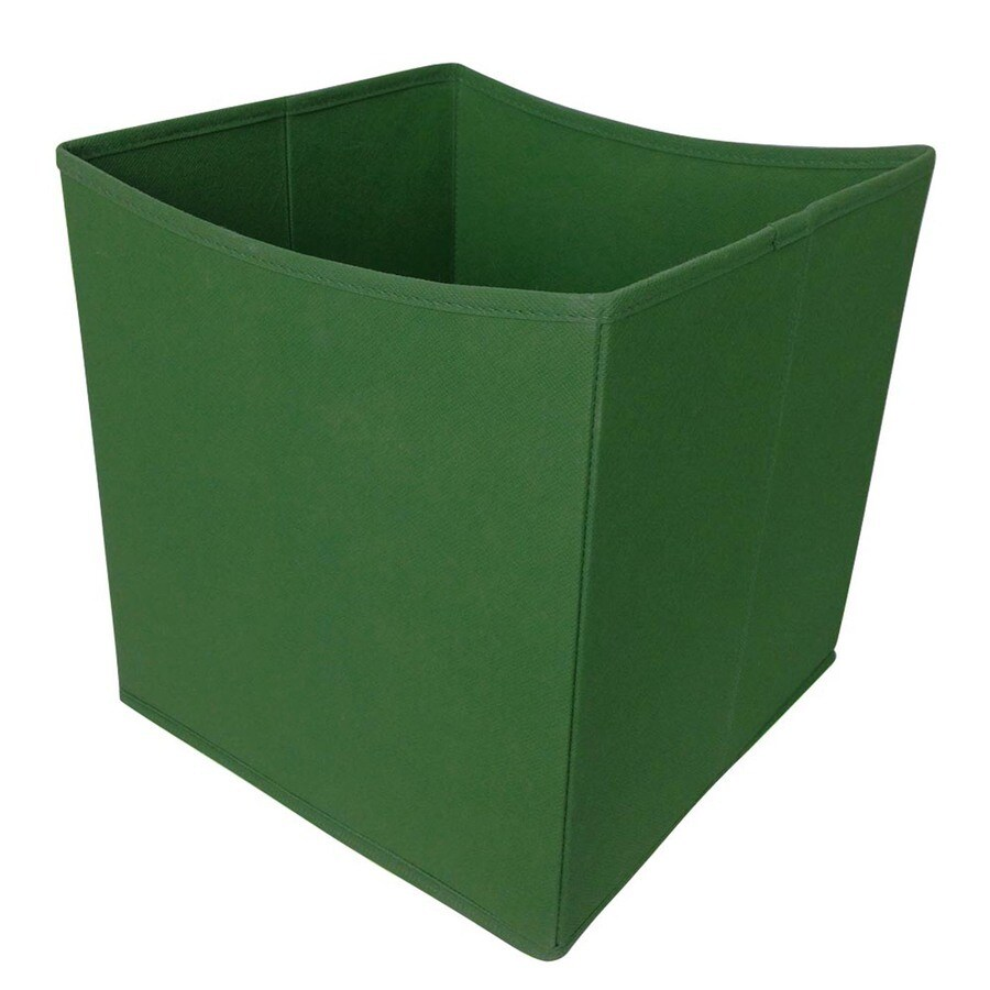 Style Selections 10.5-in W x 11-in H x 10.5-in D Green Fabric Bin