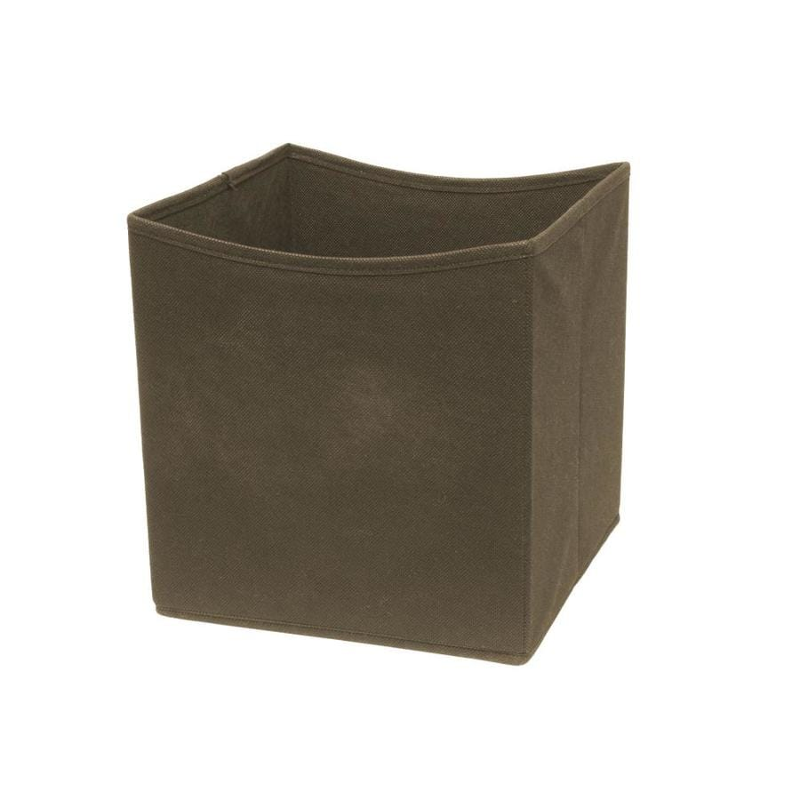10.5-in W x 11-in H x 10.5-in D Dark Brown Fabric Bin