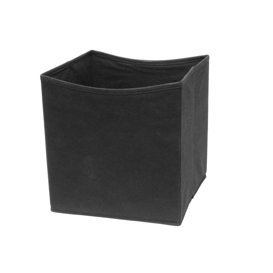 10.5-in W x 11-in H x 10.5-in D Black Fabric Bin