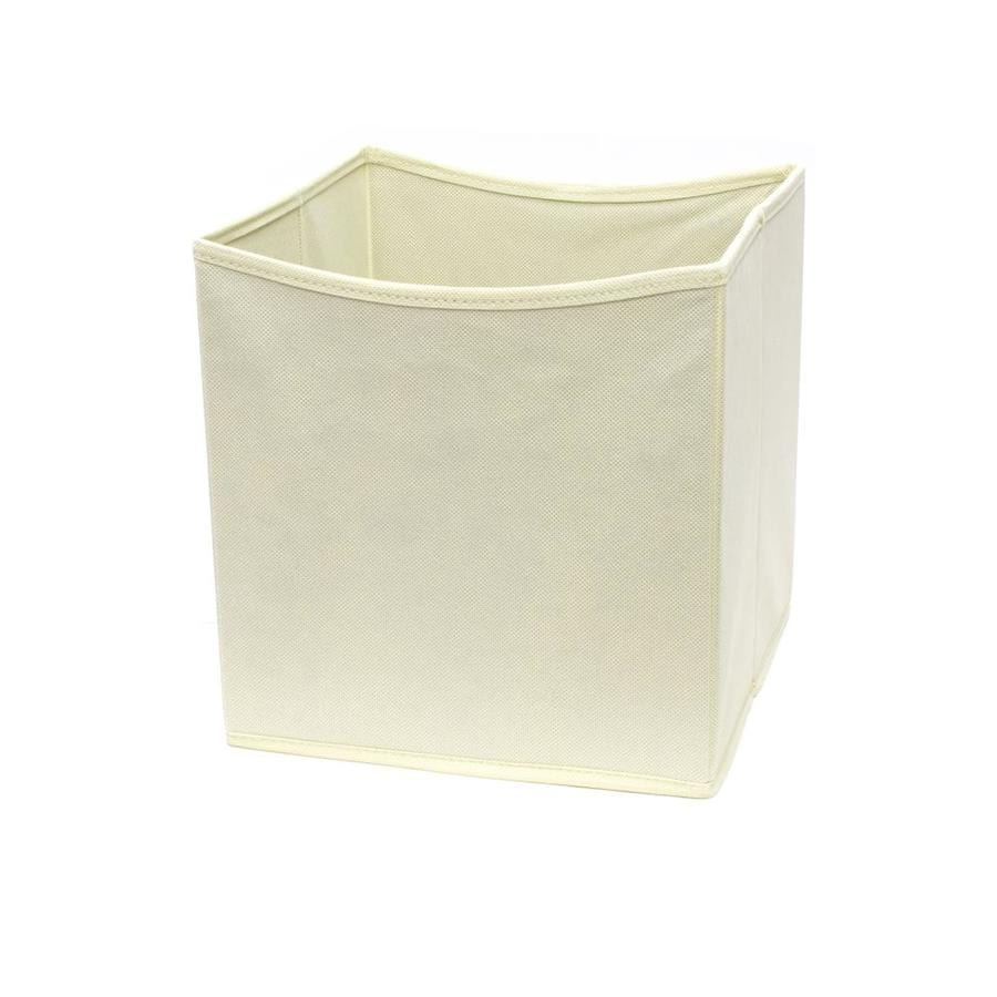 Style Selections 10.5-in W x 11-in H x 10.5-in D Natural Fabric Bin