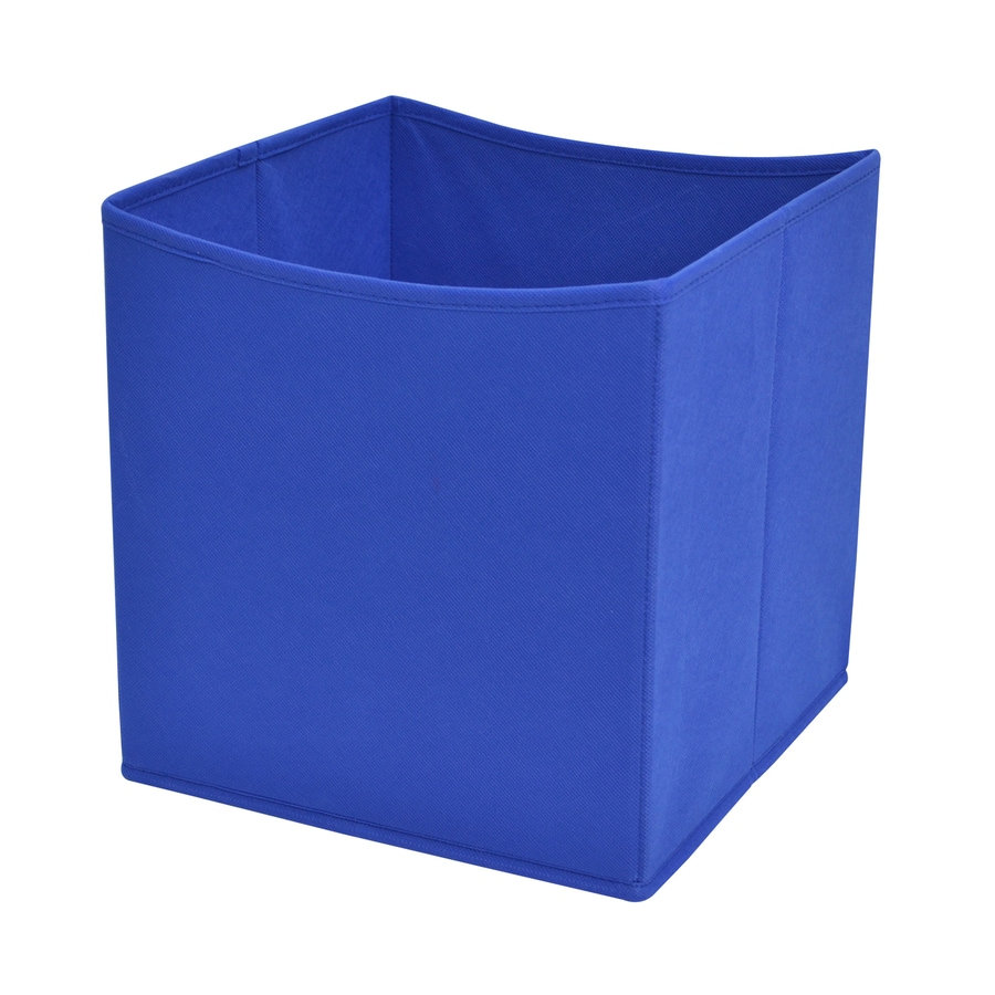 Style Selections 10.5-in W x 11-in H x 10.5-in D Royal Blue Fabric Bin
