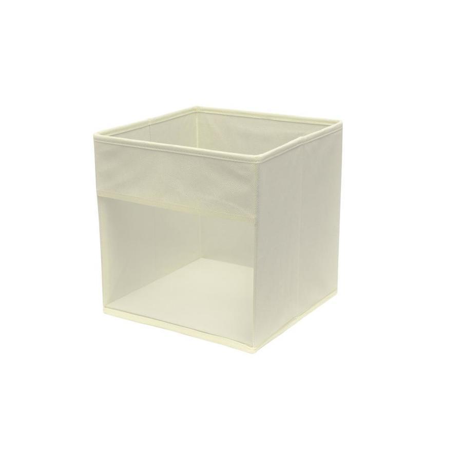 10.5-in W x 11-in H x 10.5-in D Cream Fabric Bin