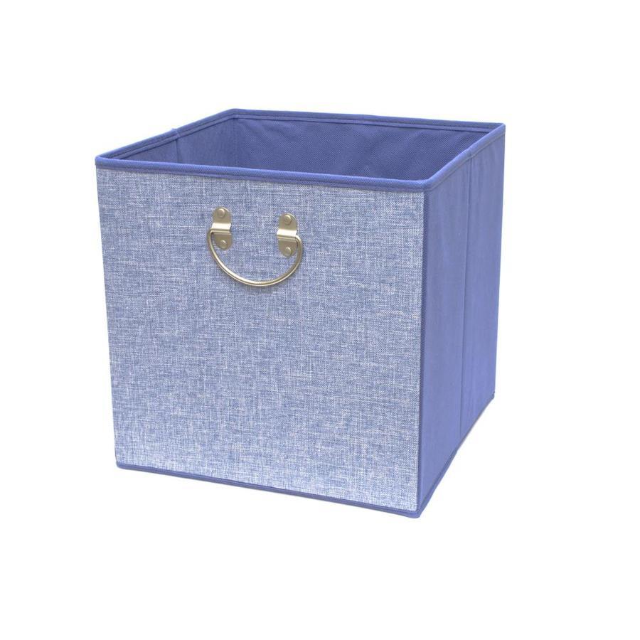12.75-in W x 12.75-in H x 12.75-in D Blue Fabric Bin