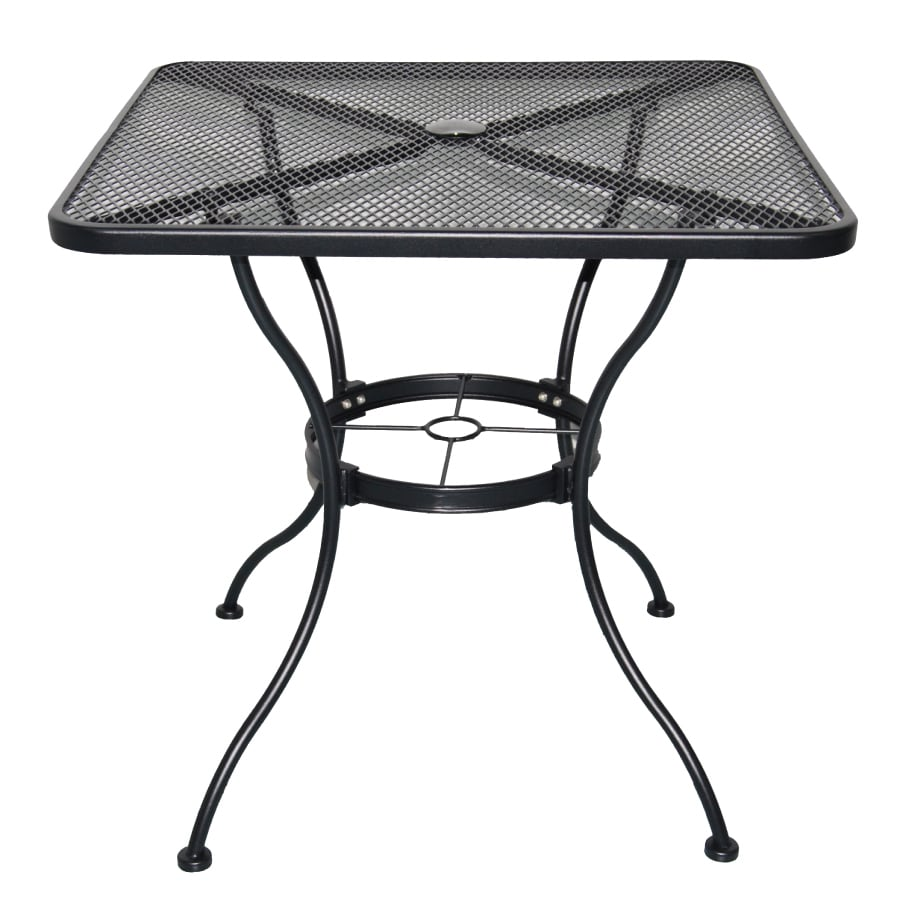 Garden Treasures Davenport Black Square Patio Bistro Table