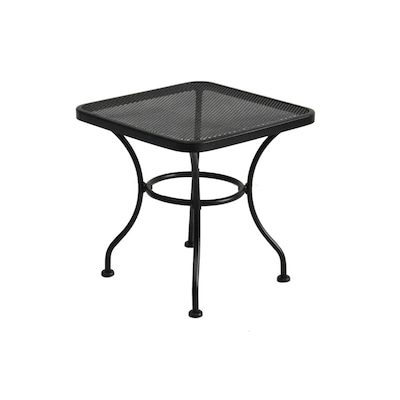 Davenport 18 In X Black Wrought Iron Square Patio End Table