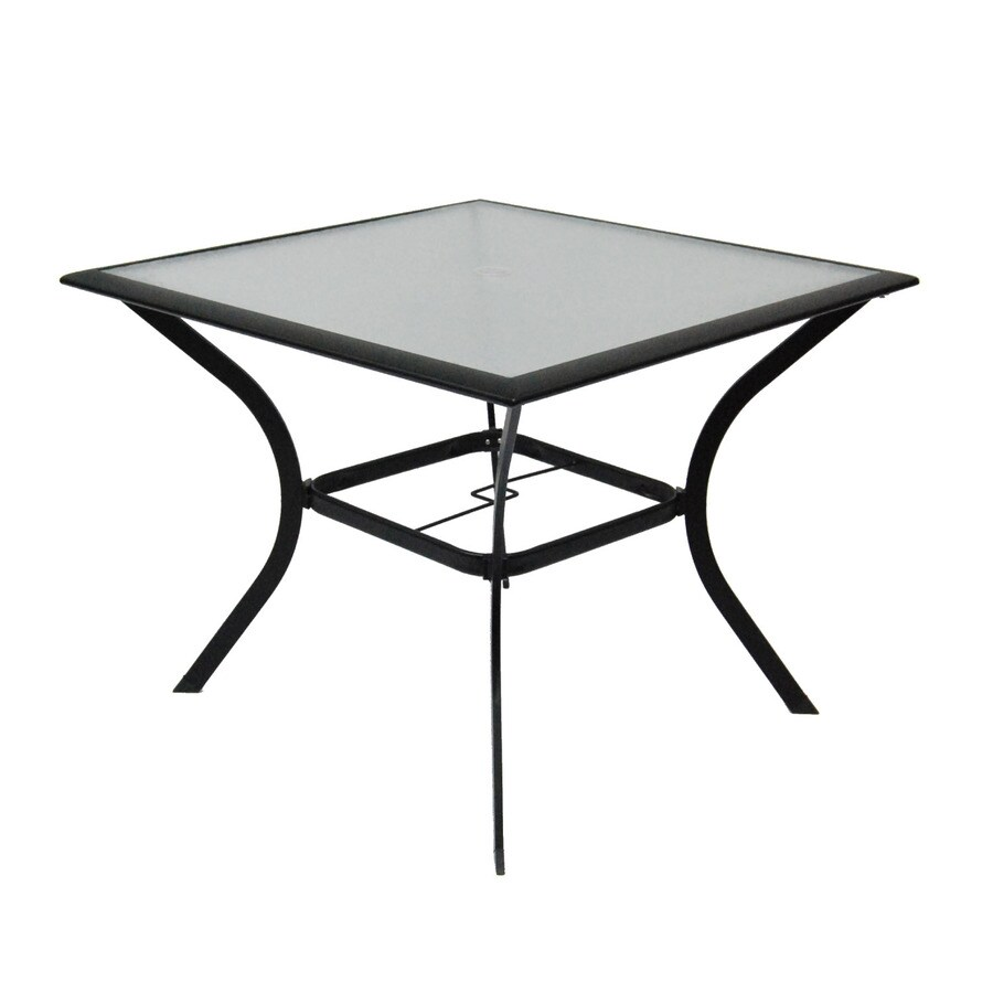 Garden Treasures Cascade Creek 40-in W x 40-in L Square Steel Dining Table