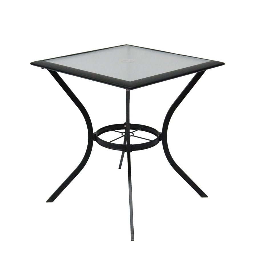 Garden Treasures Cascade Creek 28-in W x 28-in L Square Steel Dining Table