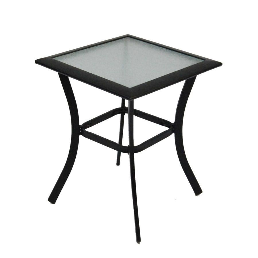 shop garden treasures cascade creek 20 in w x 20 in l square steel end table at. Black Bedroom Furniture Sets. Home Design Ideas