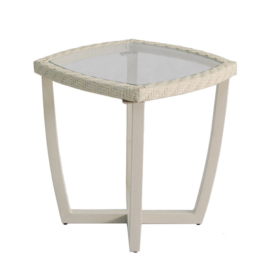allen + roth Netley 19.5-in W x 19.5-in L Square Steel End Table