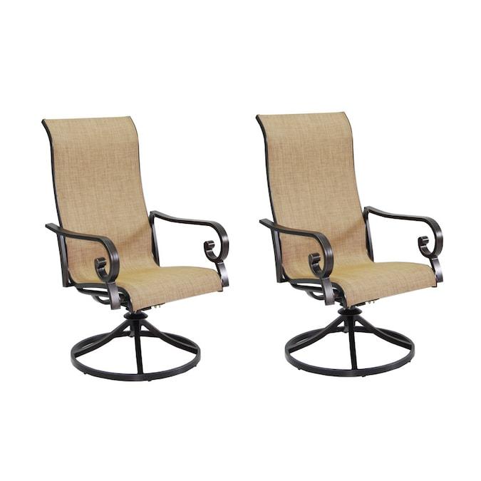 Garden Treasures Rollinsford 2 Count, Patio Furniture Swivel Rocker Chair