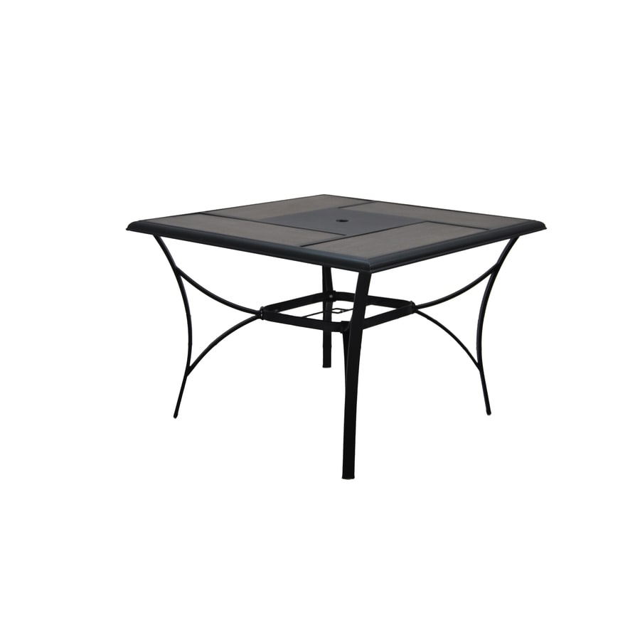 Garden Treasures Skytop 42-in W x 42-in L Square Steel Dining Table - Shop Patio Tables At Lowes.com