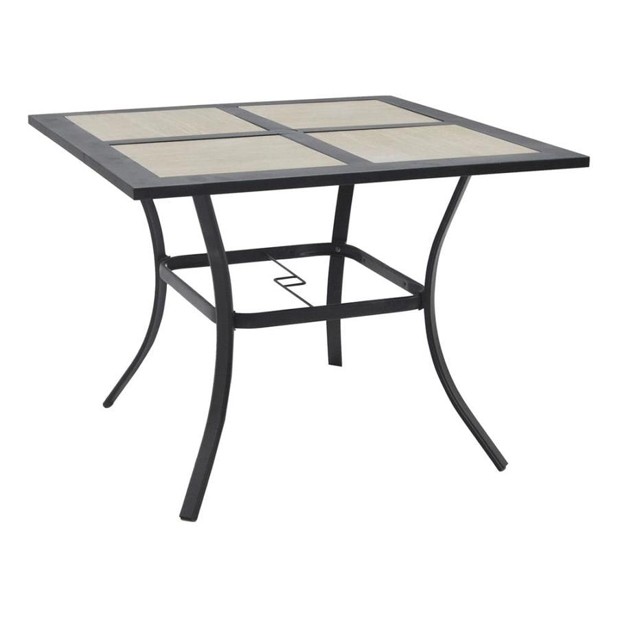 Garden Treasures Folcroft 40-in W x 40-in L Square Metal Dining Table