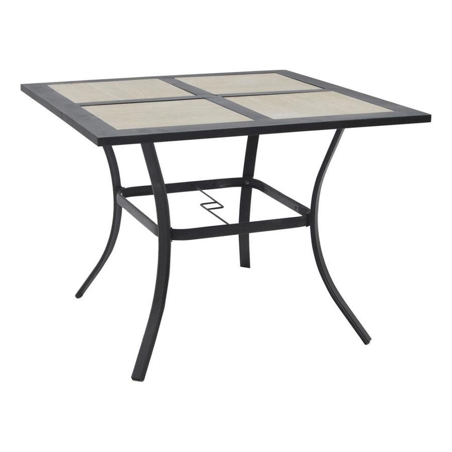 Garden Treasures Folcroft 40-in W x 40-in L Square Steel Dining Table