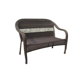 garden treasures severson brown wicker 2 seat patio loveseat