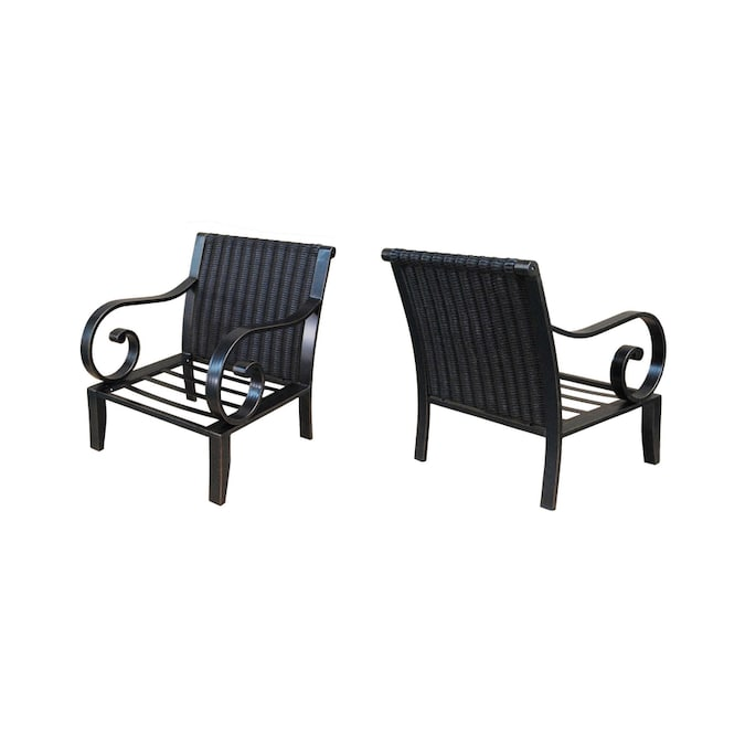 Allen Roth Pardini Aluminum Patio Conversation Chair In The Patio Chairs Department At Lowes Com