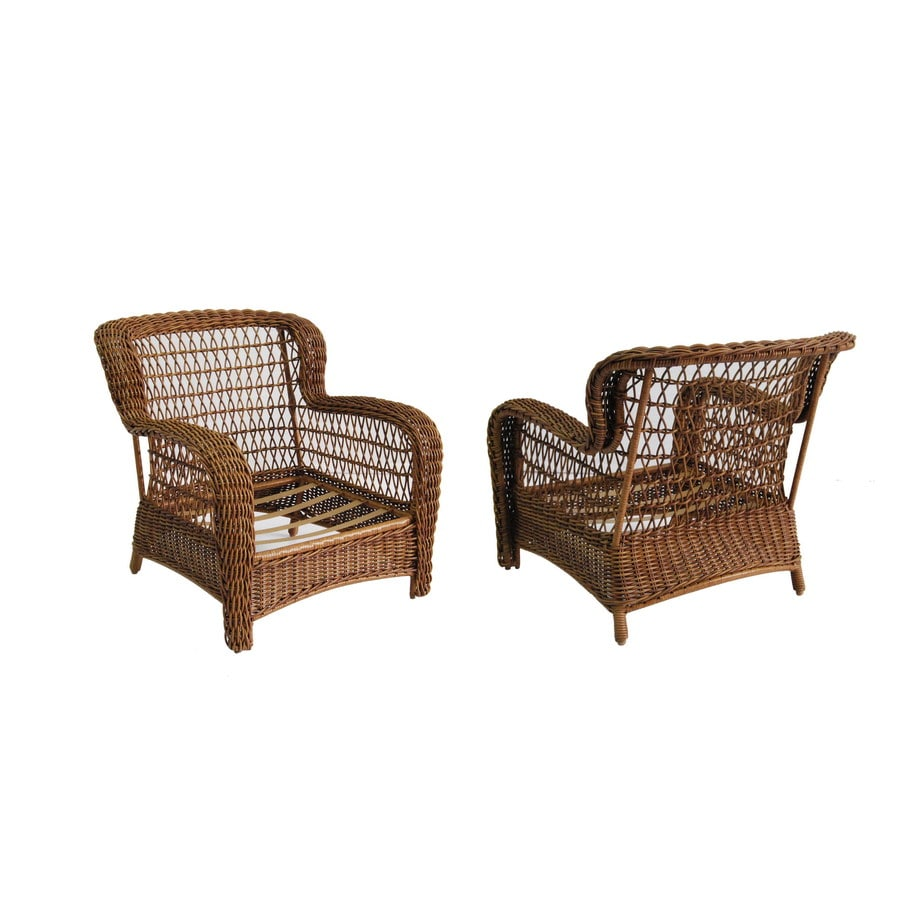 allen + roth Set of 2 Belanore Textured Coffee Steel Strap Patio Chairs