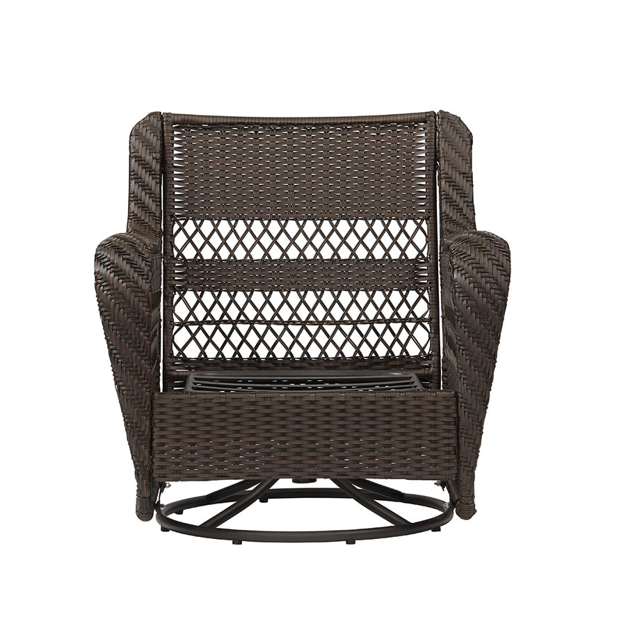 Garden treasures glenlee brown wicker swivel glider patio conversation chair