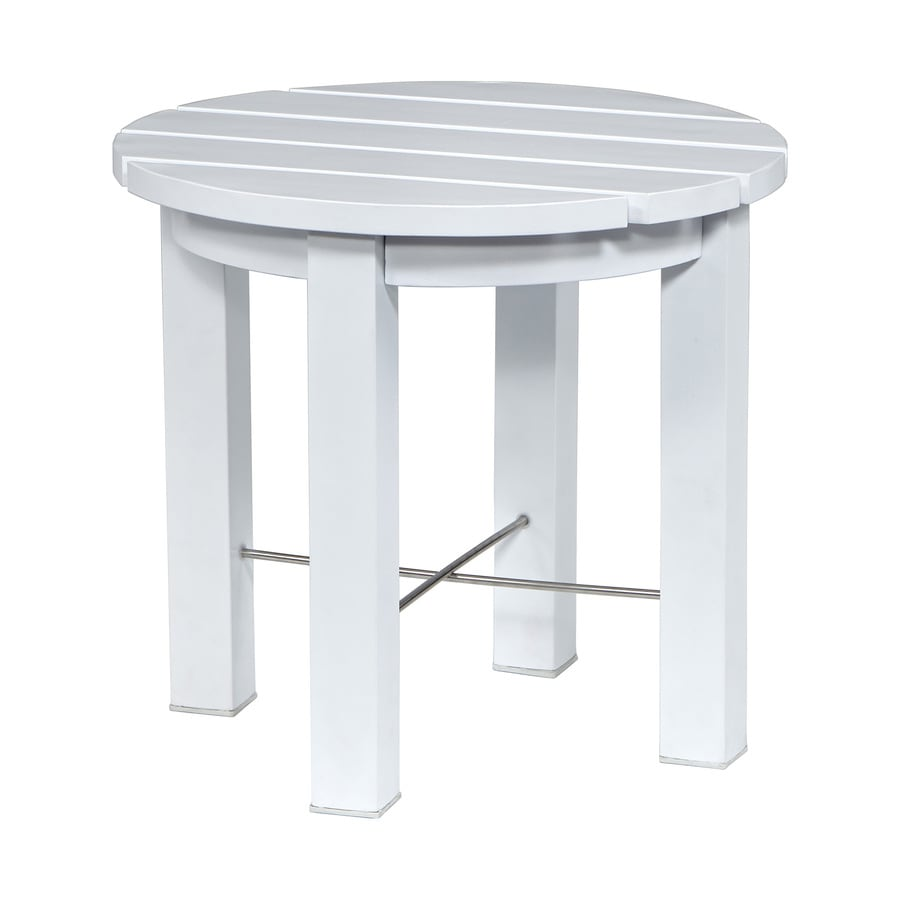 allen + roth Cape Cottage White Aluminum Round End Table