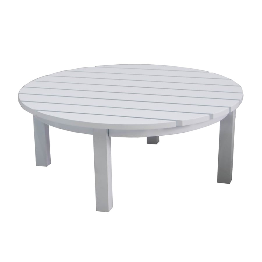 Shop allen roth cape cottage 40 in x 40 in aluminum for 40 inch round coffee table
