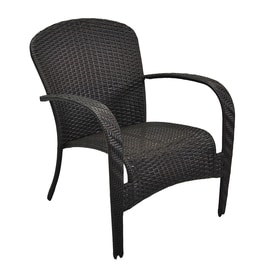 Garden Treasures Trevose Stackable Steel Conversation Chair With Woven Seat