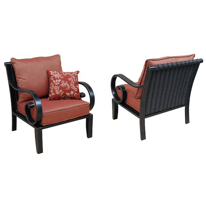 Allen Roth Pardini 2 Count Oil Bronze Aluminum Patio Conversation Chairs In The Patio Chairs Department At Lowes Com