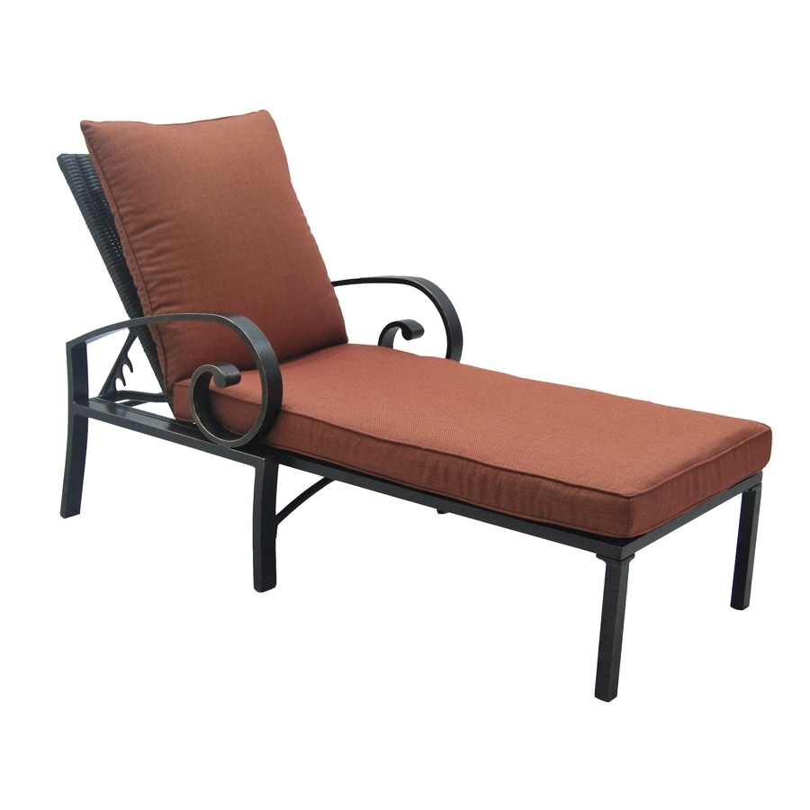 Shop allen roth pardini oil bronze aluminum patio chaise for Allen roth steel patio chaise lounge