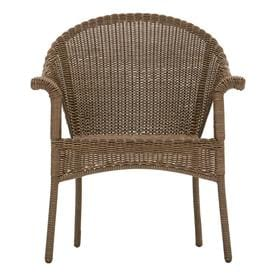 Garden Treasures Valleydale Woven Stackable Metal Stationary Conversation Chair(s) with Woven Seat
