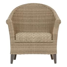 allen + roth Caledon Set of 2 Woven Metal Stationary Conversation Chair(s) with Woven Seat