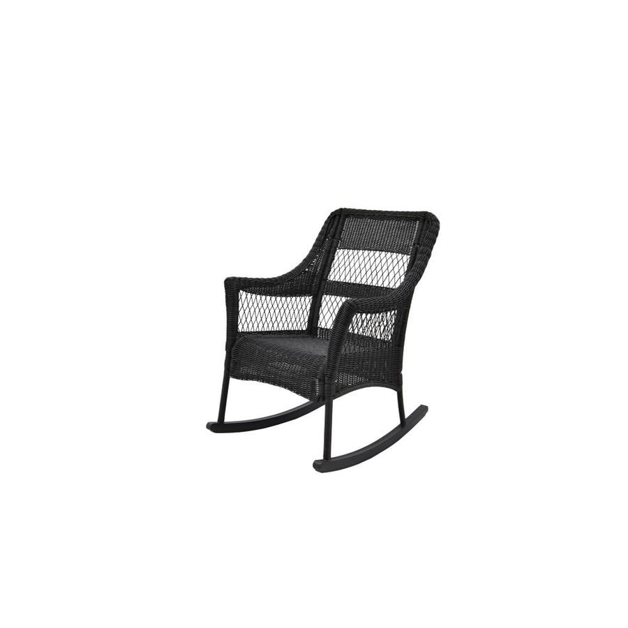 Allen + Roth Steel Rocking Chair With Woven Seat