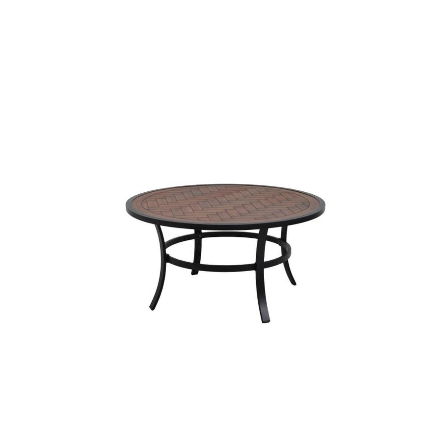 Allen Roth 38 In W X L Round Aluminum Coffee Table