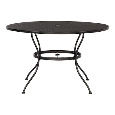 Davenport Round Dining Table 45 In W X L With Umbrella Hole