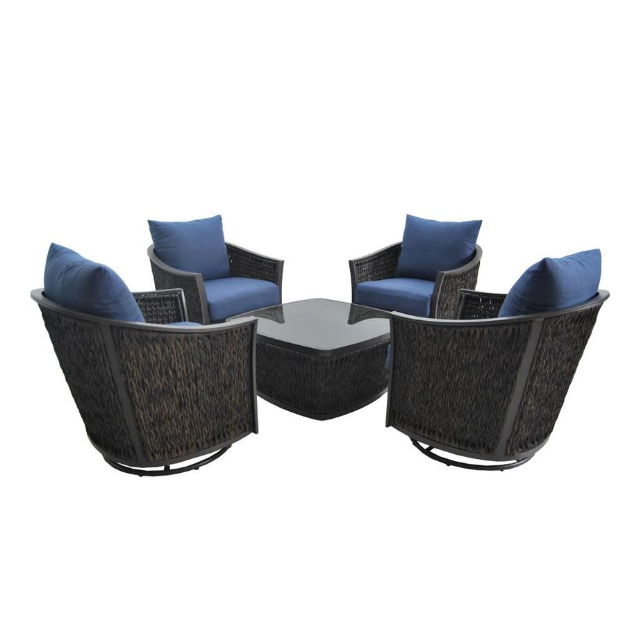Allen Roth A R Ellisview 5 Pc Chat Set At Lowes Com