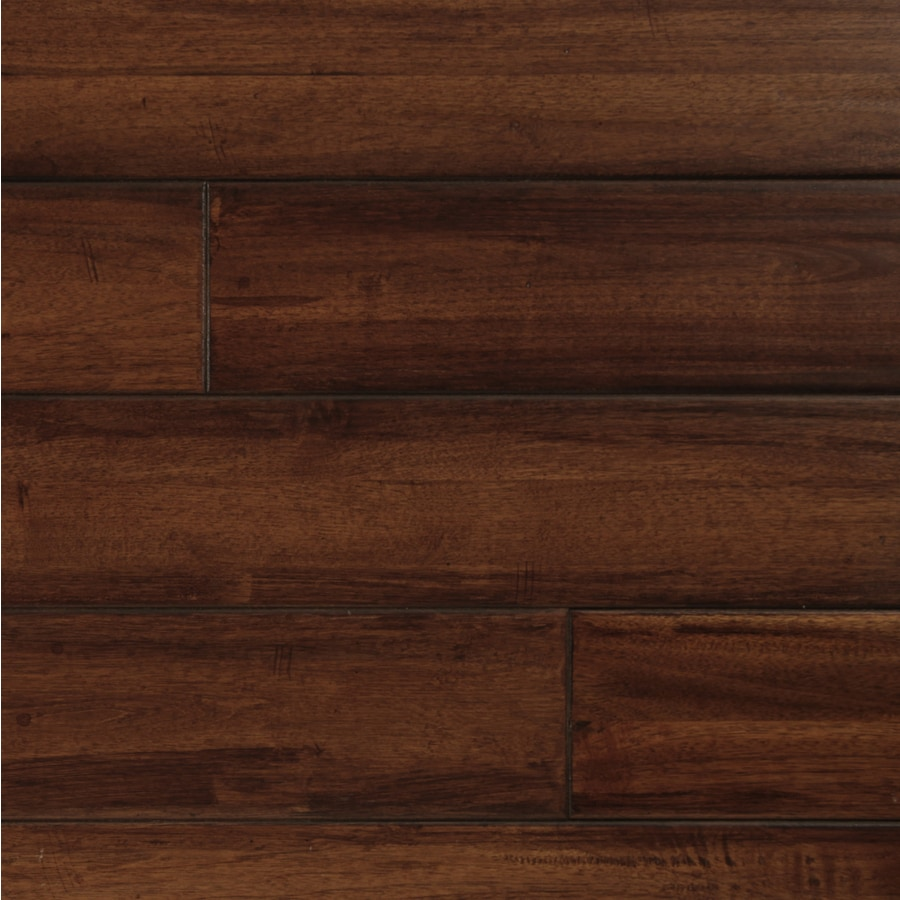 easoon Exotic Diy 4.87-in W Prefinished Walnut Locking Hardwood Flooring (Manchurian)