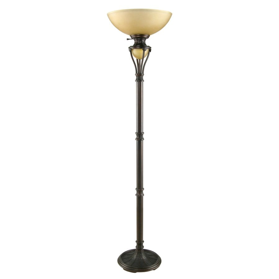 Shop portfolio 725 in aged bronze 3 way torchiere floor for Torchiere floor lamp 500w